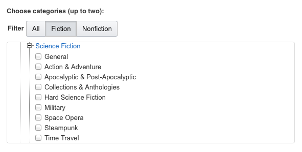 Kindle categories help make a better ebook