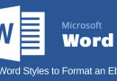 Use Word Styles To Format an Ebook
