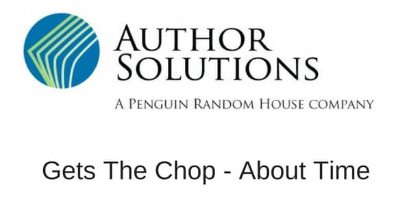 Author Solutions Gets The Chop