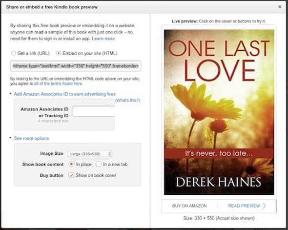 Fast link to an Amazon Kindle preview read