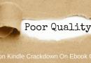 poor quality ebooks on kindle