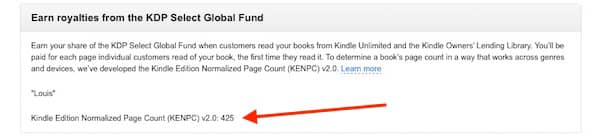 KENP page count for your ebooks