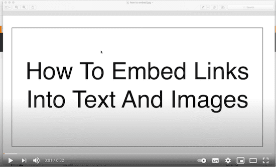 Embed Links Video