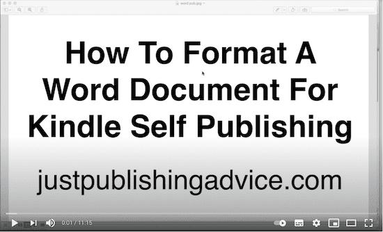 Format an ebook video