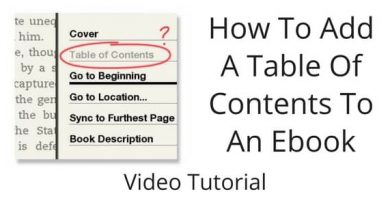 How-To-Add-A-Table-Of-Contents-To-An-Ebook-–-Video-Tutorial