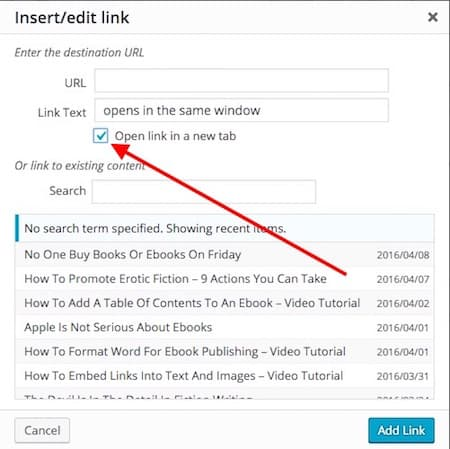 improve bounce rate by opening external links in a new tab
