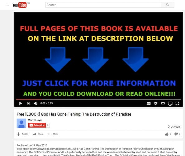 God Has Gone Fishing ebook pirated and copied