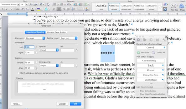 Making Space between paragraphs in ebooks