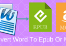 How To Convert A Document From Word To Epub Or Mobi
