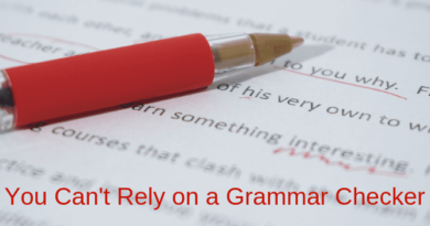 You Can't Rely on a Grammar Checker
