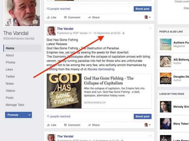 facebook promotion link