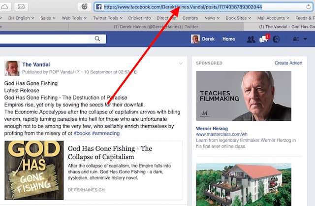 facebook book promotion link