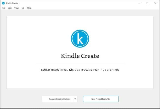 Kindle Create book publishing software