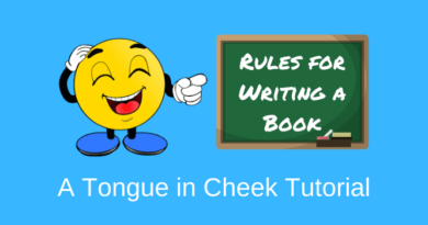 Funny rules for writing a book