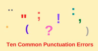 Ten Common Punctuation Mistakes