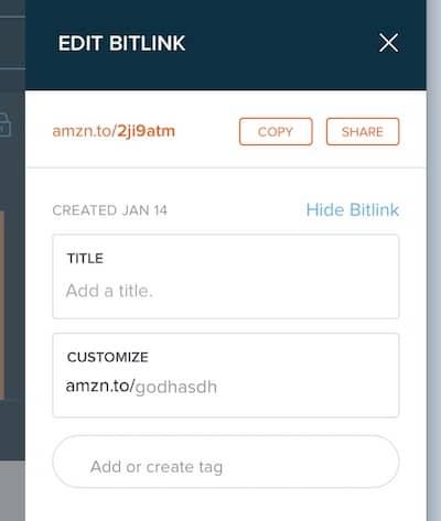 customized bitly link