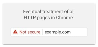 This website is not secure warning - Chrome Browser