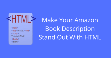 Amazon Book Description HTML