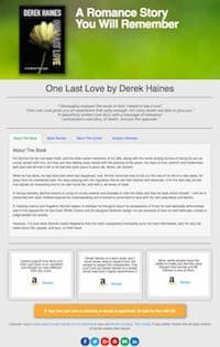 One Last Love landing page 2