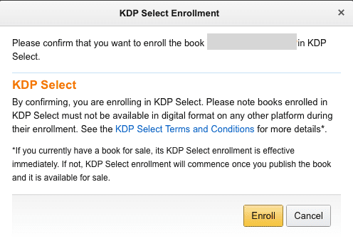 KDP-Select-Enrol-box