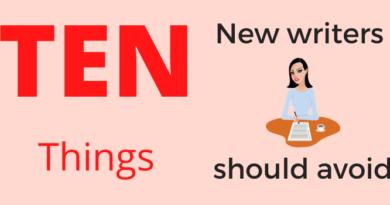 10 things writers should avoid