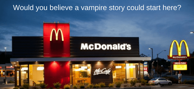 Would you believe a vampire story could start here