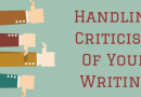 Handling Criticism Of Your Writing