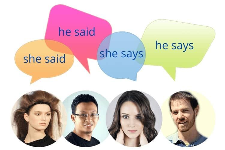 he said she says dialogue