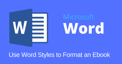 Using Word Styles To Format an Ebook