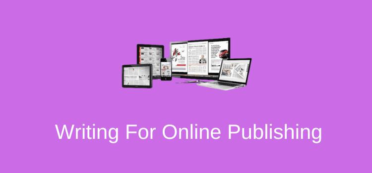 Online Publishing Writing