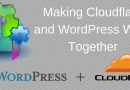 WordPress Slow On Cloudflare On WP Admin Pages