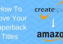 Moving From Createspace To Amazon KDP Paperback Publishing