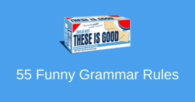 55 Funny Grammar Rules