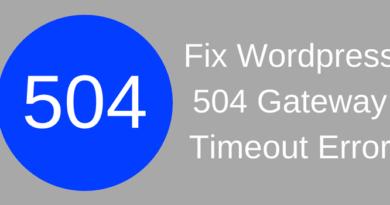 Fix Wordpress 504