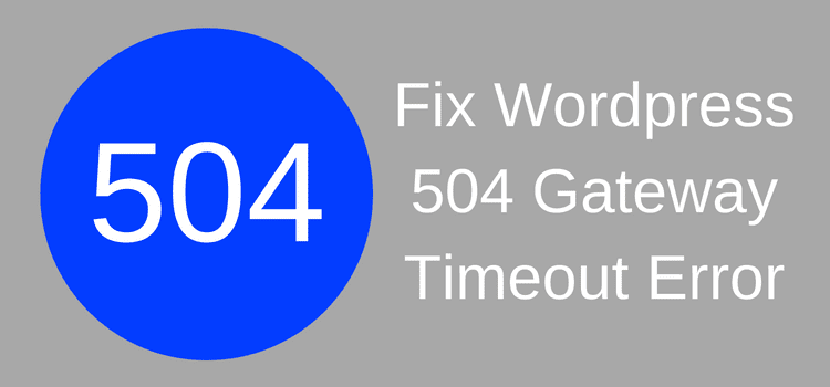 Fix WordPress 504