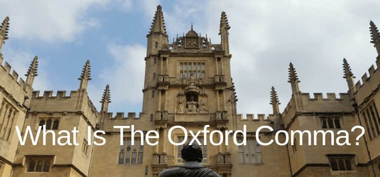 What Is The Oxford Comma