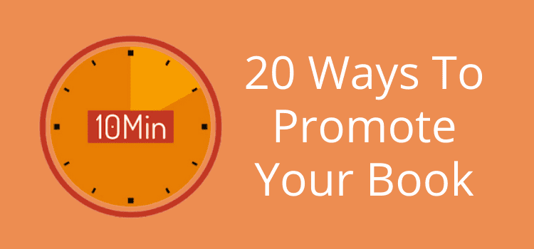 20 simple ways to promote your book for free