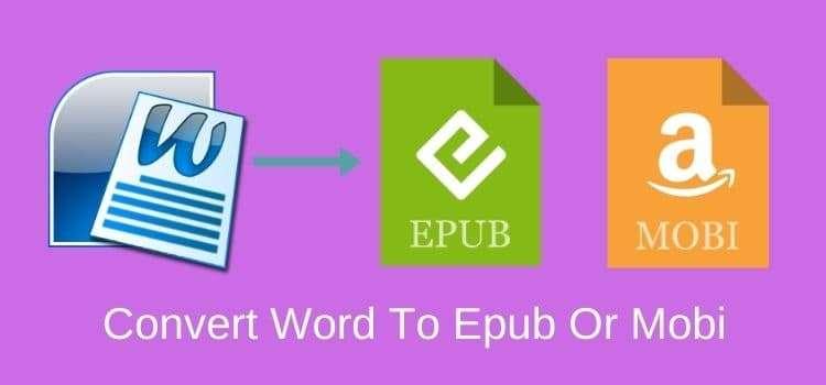 Convert Word Doc To Epub Or Mobi