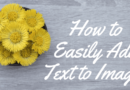 How To Easily Add Text To Images