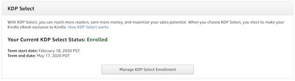 KDP enrolled