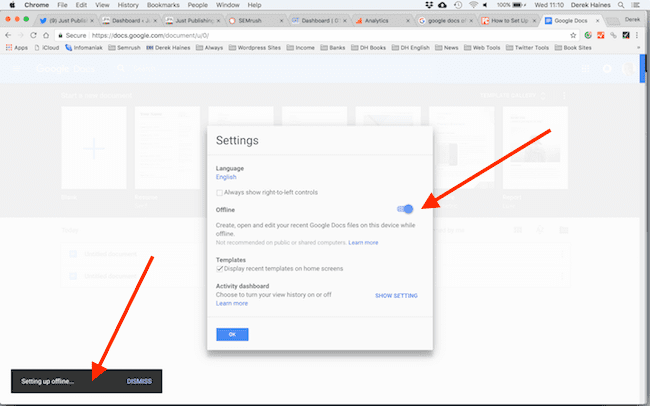 Setting Up Google Docs
