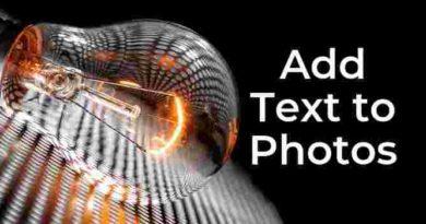 add text on photos