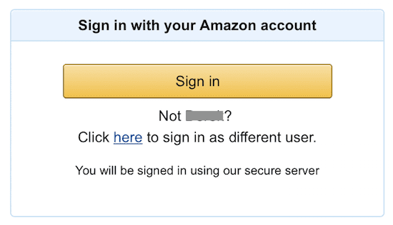 amazon account