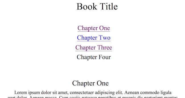 Add chapter title