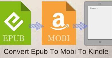 Convert Epub To-Mobi To Kindle