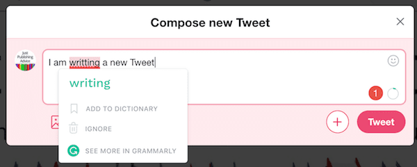 The Grammarly Chrome Extension Grammar Corrector In Action