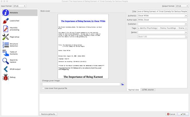 Calibre edit epub files