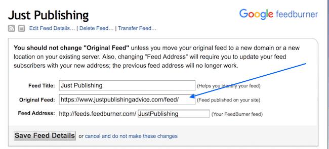 feedburner RSS feed