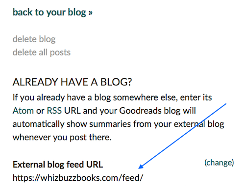 goodreads RSS feed