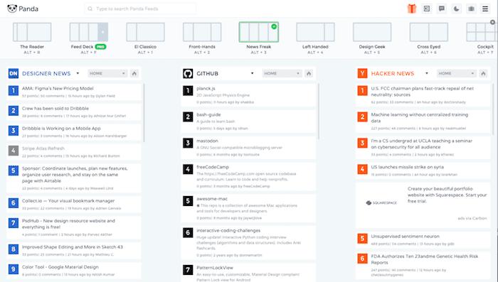 panda RSS feed